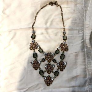 Statement floral bib necklace